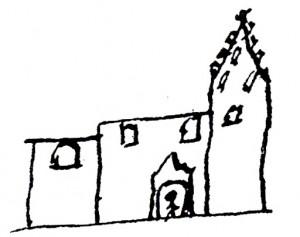 Kirken, som Jakob Madsen så den i slutningen af 1500-tallet