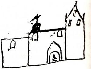 Biskop Jacob Madsens tegning af Balslev kirke 8. oktober 1589